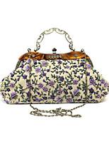cheap -Women's Flower Polyester Evening Bag Floral Print Black / Purple / Blushing Pink