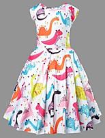 cheap -Kids Girls' Animal Dress Blushing Pink
