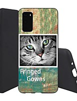 cheap -Case For Samsung Galaxy Galaxy S10 / Galaxy S10 Plus / Galaxy S10 E Ultra-thin / Pattern Back Cover Cat TPU