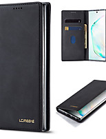 cheap -Samsung S20Plus Simple Atmospheric Flip Wallet Leather Case Mobile Phone Case Note10Plus Shatterproof Shockproof Pluggable Card S10P / S9 / S8 / A70 Protective Case