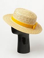 Недорогие -Солома Соломенные шляпы с Бант 1 шт. Повседневные / на открытом воздухе Заставка