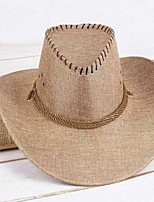 cheap -Straw Hats with Braided Strap 1 Piece Casual / Outdoor Headpiece
