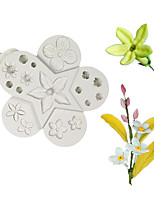 cheap -Various flower chocolate molds fondant cake silicone molds home baking utensils