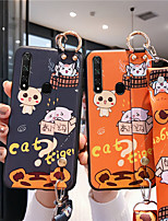 cheap -Case For Samsung Galaxy A8 / A91 / M80S Pattern Back Cover Word / Phrase / Cartoon TPU