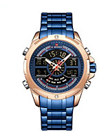 cheap -NAVIFORCE Men's Sport Watch Japanese Quartz Modern Style Sporty Stainless Steel Black / Blue / Silver 30 m Calendar / date / day Chronograph Alarm Clock Analog - Digital Outdoor Army - Red Gold Green