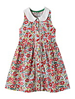 cheap -Kids Girls' Floral Dress Red