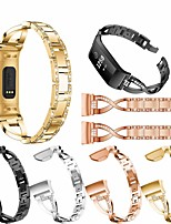 cheap -Watch Band for Fitbit charge3 Fitbit Jewelry Design Stainless Steel Wrist Strap