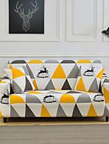 Недорогие -геометрический желтый треугольник с принтом пылезащитный всесильный чехлы на диван эластичный чехол для дивана супер мягкий чехол из ткани с одной бесплатной наволочкой
