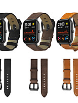 cheap -Genuine Leather Wrist Strap for Amazfit GTS Xiaomi Replacement  Stainless Steel Watch Band