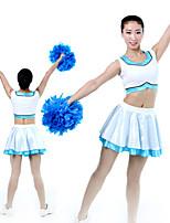 cheap -Cheerleader Costume Uniform Women's Girls' Kids Skirt Spandex High Elasticity Handmade Sleeveless Competition Dance Rhythmic Gymnastics Gymnastics White