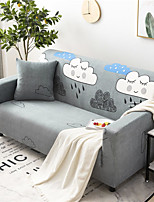 cheap -Cartoon Cloud Print Dustproof All-powerful Slipcovers Stretch Sofa Cover Super Soft Fabric Couch Cover with One Free Pillow Case