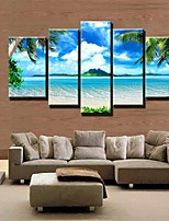 cheap -5 Panels Modern Canvas Prints Painting Home Decor Artwork Pictures DecorPrint Rolled  Stretched  Modern Art Prints Natures  Outdoors