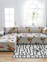 Недорогие -мультяшный принт пылезащитный всесильный чехлы-стрейч l форма для дивана супер мягкая ткань для дивана с одной бесплатной наволочкой