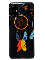 cheap -Case For Samsung Galaxy S20 / S20 Ultra / Glow in the Dark / Pattern Back Cover Feathers/ Animal TPU for Galaxy A10 A20 A30 A30S A40 A50 A50S A60 A70 A80 A90 M10 M20 NOTE9 NOTE10 NOTE10 PRO