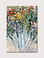 cheap -Hand-Painted Abstract Thick Oil Knife Painting Flower Family Hotel Wall Large Size Decorative Oil Painting