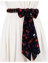 cheap -Print Cloth Wedding / Party / Evening Sash With Belt Women's Sashes