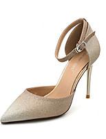 cheap -Women's Heels Stiletto Heel Pointed Toe PU Spring & Summer Gold / Silver