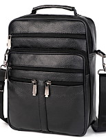 cheap -Men's Zipper PU Top Handle Bag Solid Color Black / Brown