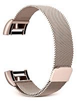 Недорогие -Ремешок для часов для Fitbit заряд2 Fitbit Классическая застежка Нержавеющая сталь Повязка на запястье