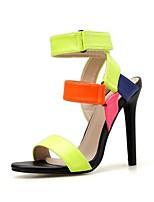 cheap -Women's Sandals Stiletto Heel Open Toe PU Summer Rainbow