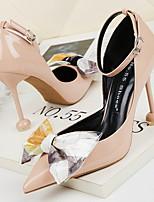 cheap -Women's Heels Stiletto Heel Pointed Toe PU Spring & Summer Black / White / Red