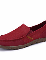 cheap -Men's Rubber Summer / Spring & Summer Sporty / Casual Loafers & Slip-Ons Walking Shoes Breathable Camel / Wine / Dark Blue