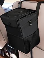 cheap -Black Car Trash Can With Lid And Storage Pocket Car Organizer Storage Bags