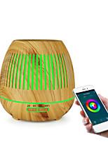 cheap -Smart Essential Oil Aroma Humidifier Meteor Wood Grain Aroma Diffuser 400ML Aroma Diffuser Hollow Design