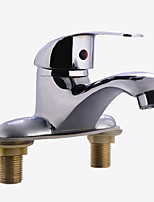 cheap -Bathroom Sink Faucet - Standard Electroplated Centerset Single Handle Two HolesBath Taps