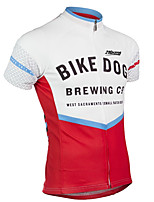 cheap -21Grams Men's Short Sleeve Cycling Jersey 100% Polyester Red / White Bike Jersey Top Mountain Bike MTB Road Bike Cycling UV Resistant Breathable Quick Dry Sports Clothing Apparel / Stretchy