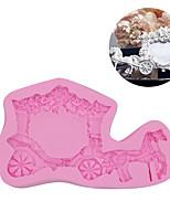 cheap -1pcs Wedding Carriage Fondant Cake Silicone Mold DIY