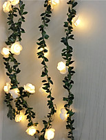 cheap -6M Artificial Plants Led String Light Creeper Green Leaf Ivy Vine For Home Wedding Decor Lamp DIY Hanging Garden Yard Lighting Powered By AAA Battery Box 1 set