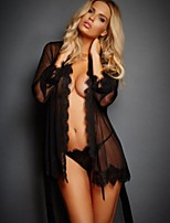 cheap -Women's Lace Suits Nightwear Solid Colored Black Wine White S M L