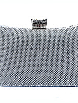 cheap -Women's Glitter / Crystals Polyester / Alloy Evening Bag Solid Color Gold / Silver / Black