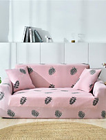 cheap -Pink Leaves Print Dustproof All-powerful Slipcovers Stretch Sofa Cover Super Soft Fabric Couch Cover with One Free Pillow Case