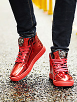 cheap -Men's Patent Leather Spring & Summer / Fall & Winter Casual / Preppy Sneakers Walking Shoes Breathable Red / Blue