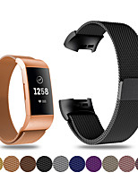 cheap -Watch Band for Fitbit charge3 Fitbit Sport Band / Milanese Loop / Modern Buckle Stainless Steel Wrist Strap