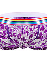 cheap -Men's Lace Boxers Underwear - Normal Low Waist Black Purple Blue M L XL