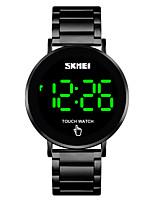 Недорогие -SKMEI Муж. электронные часы Кварцевый Современный Стильные Нержавеющая сталь Черный / Серебристый металл / Золотистый 30 m Защита от влаги Календарь Новый дизайн Цифровой минималист Мода -