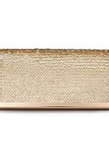 Недорогие -Жен. Пайетки Полиэстер Вечерняя сумочка Сплошной цвет Красный / Цвет шампанского / Золотой