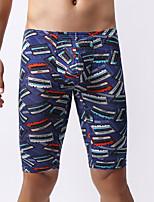 cheap -Men's Print Boxers Underwear - Normal Mid Waist Blue S M L