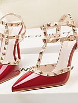 cheap -Women's Heels Rockstud shoes Stiletto Heel Pointed Toe PU Spring & Summer Wine / Purple / Light Red / Daily