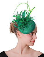cheap -Headpieces Wedding Polyester Fascinators / Hats / Headwear with Cap 1 Piece Wedding / Party / Evening Headpiece