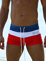 cheap -Men's Swim Shorts Swim Trunks Bottoms Breathable Quick Dry Drawstring - Swimming Water Sports Summer / Micro-elastic