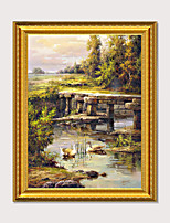 cheap -Framed Art Print Restaurant Scenery Simulation Oil Painting Carvings Frame Encounter Art Inverse in The Prosperity of The Exquisite