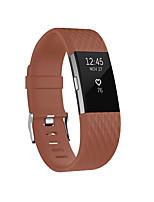 Недорогие -Ремешок для часов для Fitbit Charge 2 Fitbit Классическая застежка силиконовый Повязка на запястье
