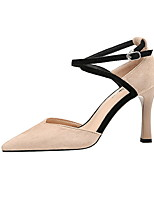 cheap -Women's Heels Stiletto Heel Pointed Toe Suede Spring & Summer Black / Almond / Red