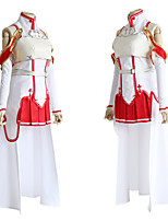 cheap -Inspired by SAO Swords Art Online Asuna Yuuki Anime Cosplay Costumes Japanese Cosplay Suits Dress Socks For Women's