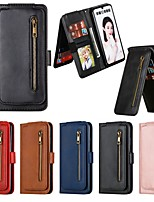 cheap -Case For Huawei  Honor 8A / Honor 20i / Honor 10 Lite  Wallet / Card Holder / Shockproof Full Body Cases Solid Colored PU Leather Case For Huawei  Honor 10i / Y9 Prime(2019) /Y7 Prime(2019) /Y7 Pro