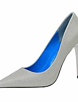 cheap -Women's Heels Stiletto Heel Pointed Toe Faux Leather Casual / Minimalism Spring / Summer Black / Champagne / Gold